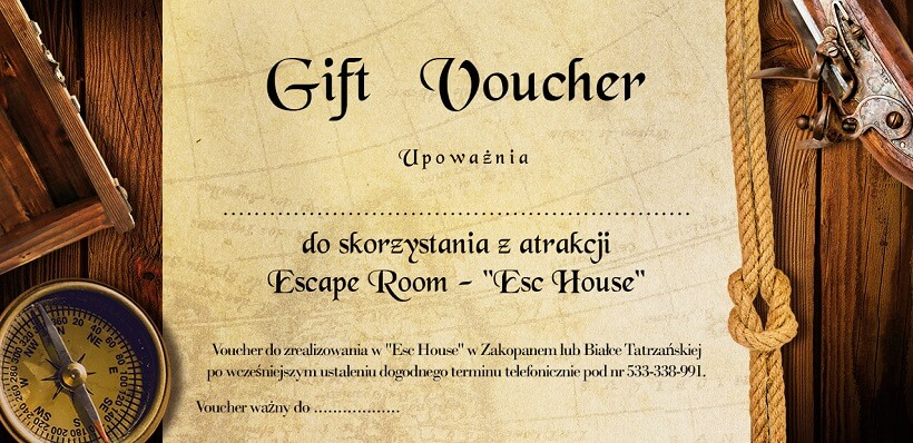 Voucher Escape Room Zakopane